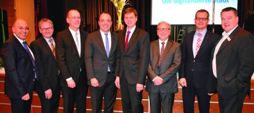 Baunatal, Neujahrsempfang, Manfred Schaub, Christiane Geselle, Landrat Uwe Schmidt, Timm Fuchs, Thorsten Jablonski, Carsten Bätzold