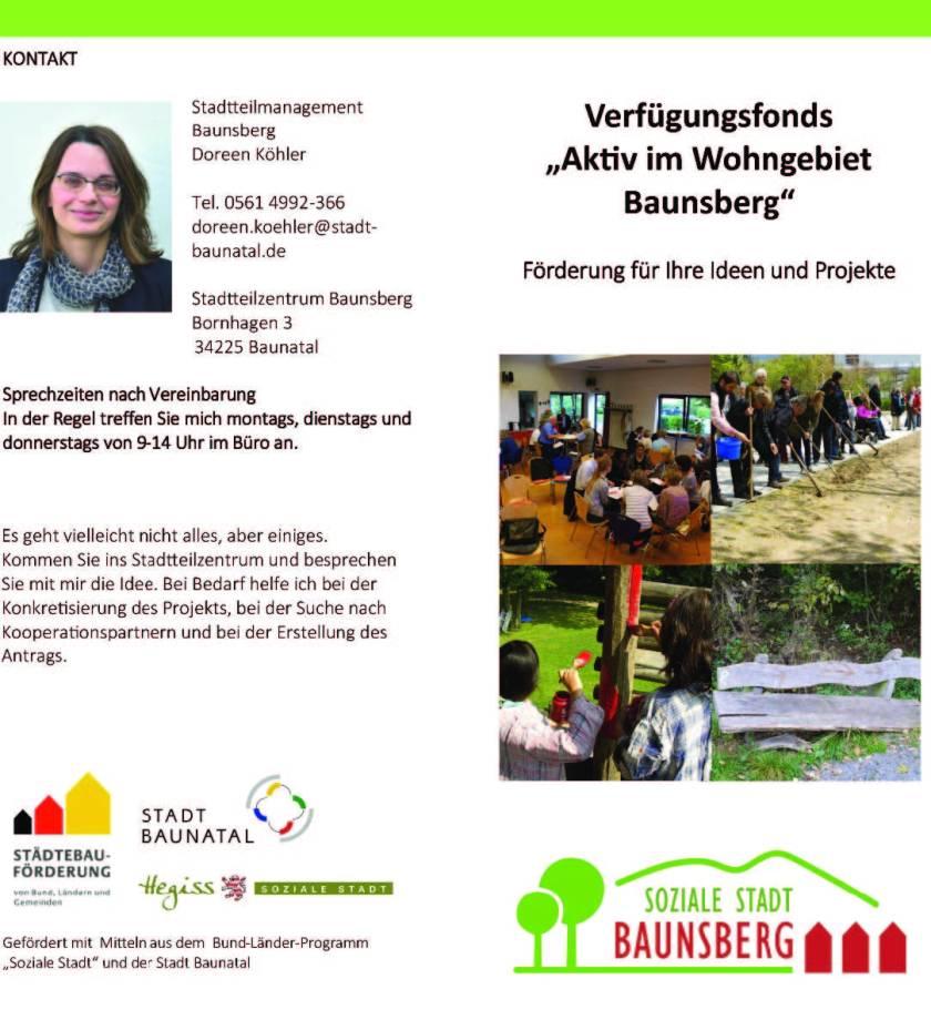 Baunatal, Verfügungsfond Baunsberg, soziale Stadt Baunsberg