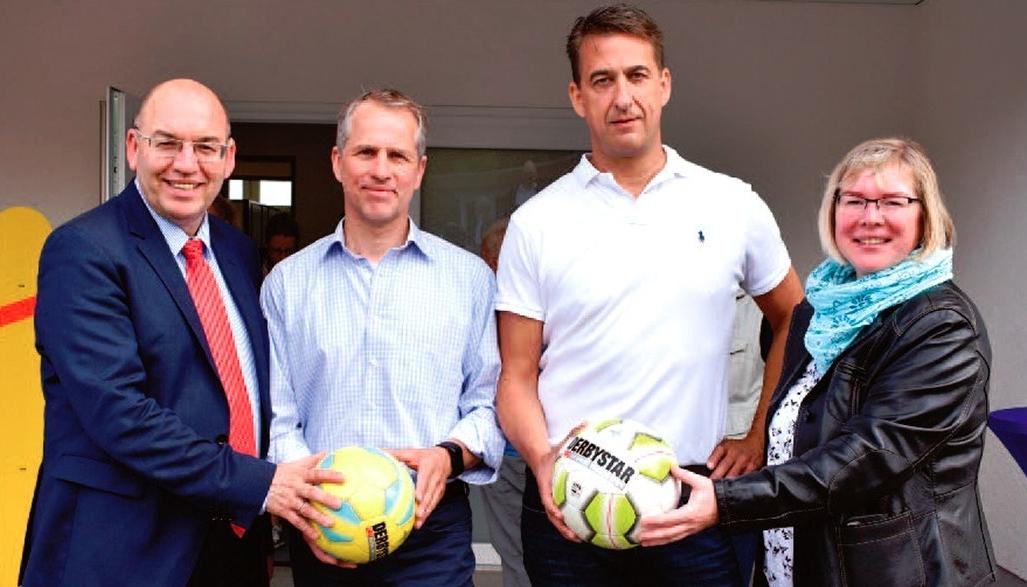 Neues Umkleidegebäude für die Fußballer in Großenritte