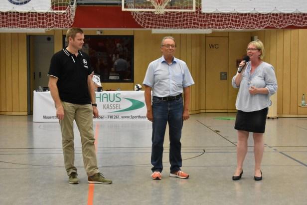 Tag des Handballs Bauntal, GSV Eintracht Baunatal, MT Melsungen, Axel Geerken, Silke Engler, Claus Umbac
