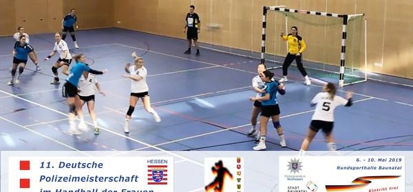Polizei, Handball, Deutsche Polizeimeisterschaft Frauenhandball, Baunatal, Stadtmarketing Baunatal