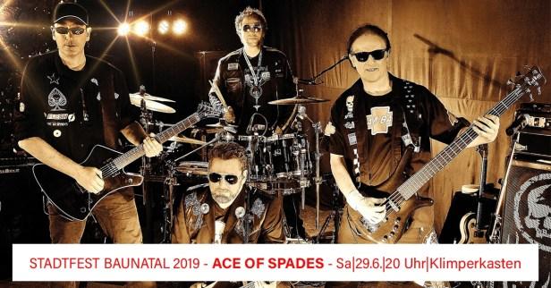 Stadtfest Baunatal, 2019, Ace of Spades