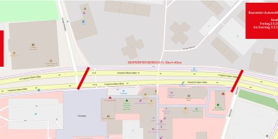 Baunataler Automobilausstellung, Straßensperrung, Baunatal, City Baunatal