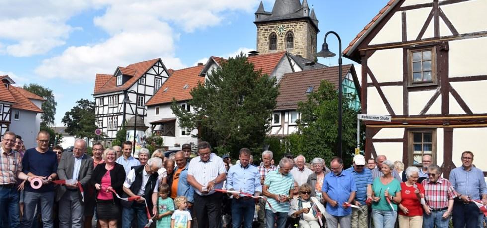 Baunatal, Großenritte, Dorfplatz, Baustelle