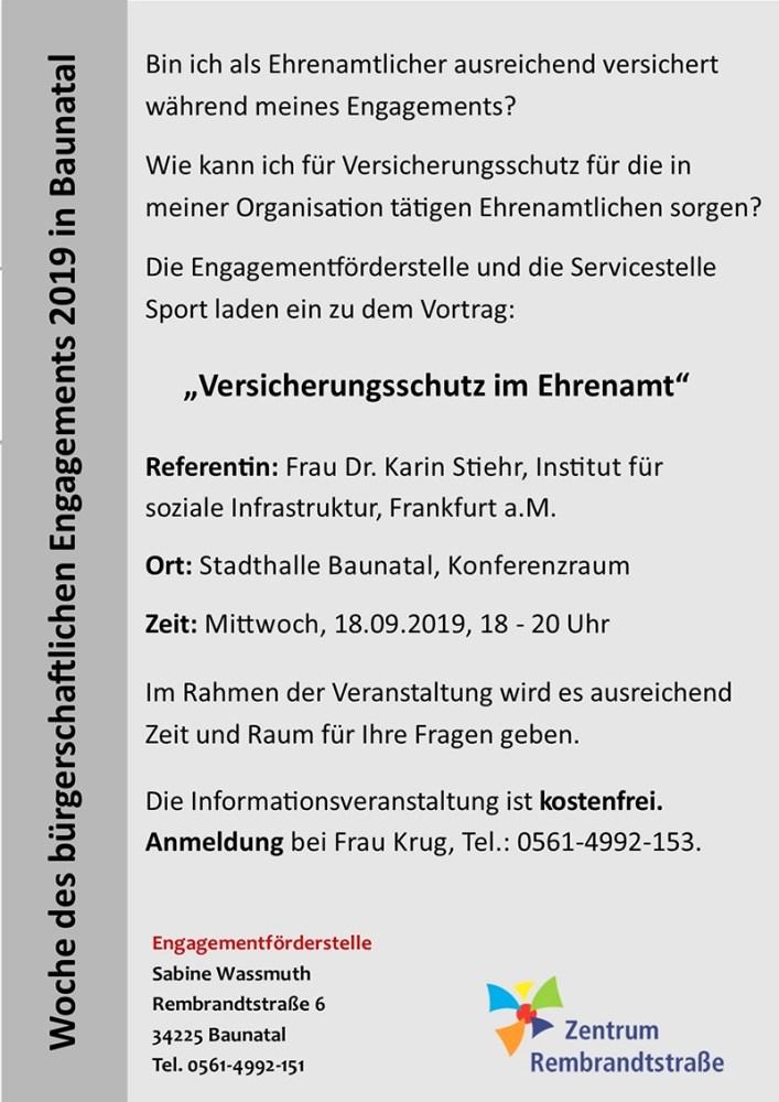 Ehrenamt Baunatal, Franz Müntefering