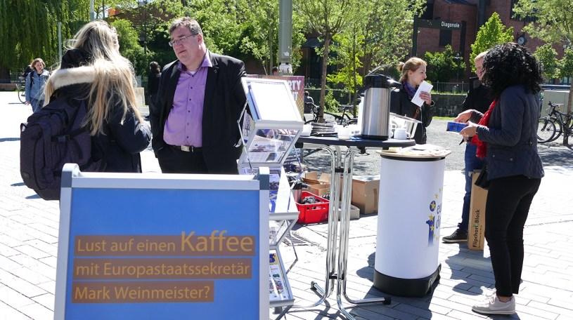 Europastaatsekretär Mark Weinmeister, Wochenmarkt Baunatal, 21.9.2019