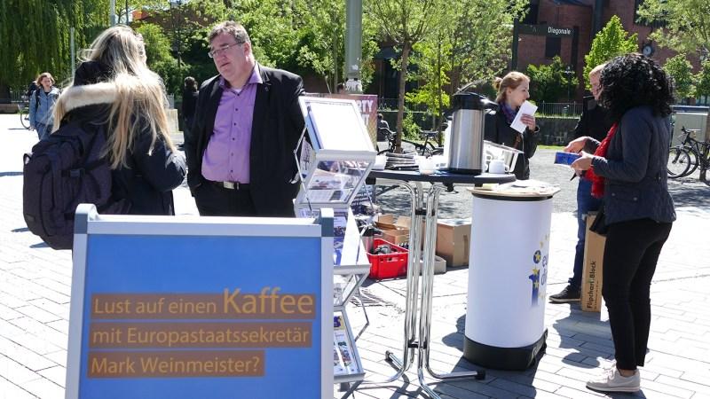 Offene Bürgersprechstunde  – Auf einen Kaffee mit dem Europastaatssekretär