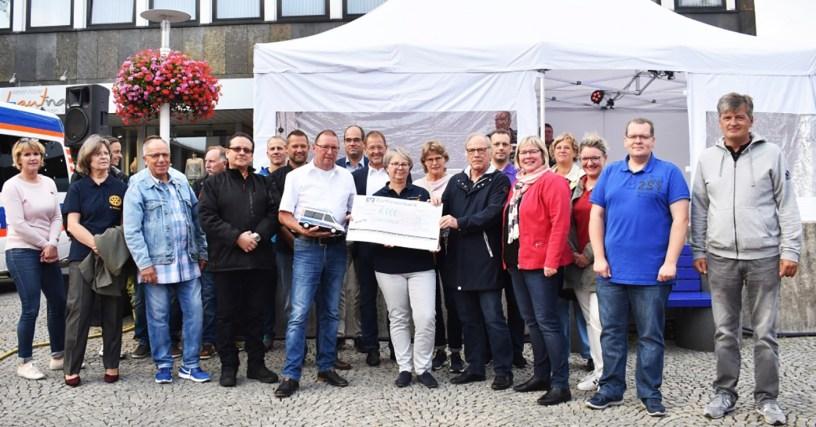 Biergarten Europaplatz Baunatal, Spende, Zapfen für den guten Zweck, Wünschewagen, ASB Nordhessen