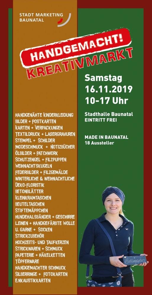 HANDGEMACHT!, Kreativmarkt Baunatal, Baunatal, Made in Baunatal, 16.11.2019, Stadthalle Baunatal, Weihnachtsgeschenk, Handmade