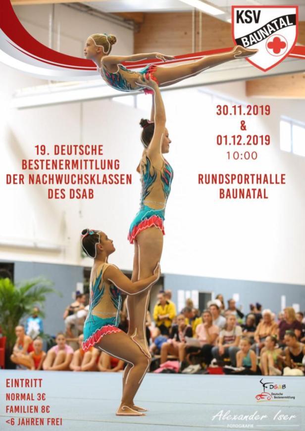 Sportakrobatik, KSV Baunatal, Deutsche Bestenermittlung, 2019, Rundsporthalle Baunatal, DSAB
