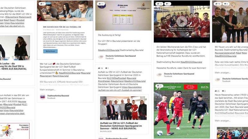 Social Media Wall #deafEM2020Baunatal ist Online