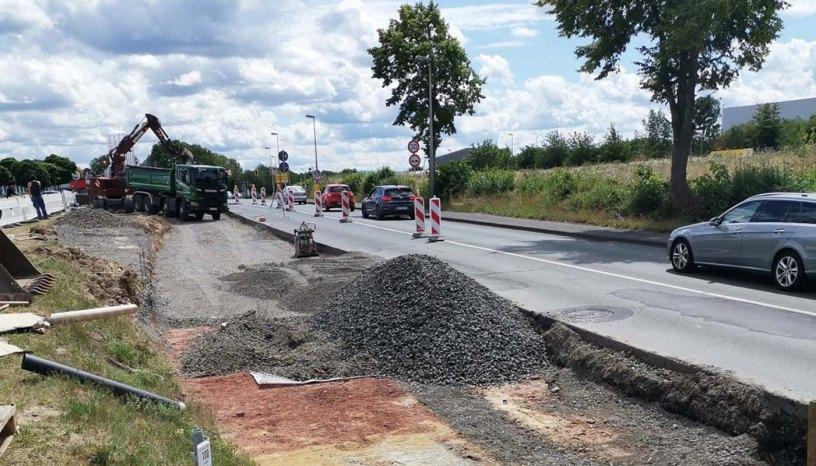 Hertingshausen, Bushaltestellen, Ratio-Land, Bauarbeiten, Grifter Straße