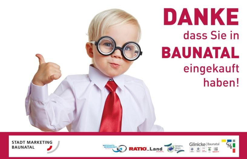 Danke Baunatal, Stadtmarketing Baunatal, Danke Kampagne, Stadtmarketing