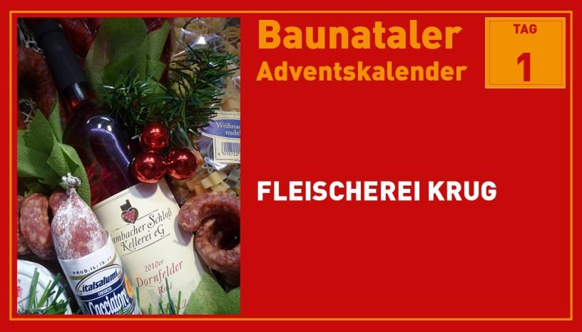 Baunataler Adventskalender, Stadtmarketing Baunatal, Fleischerei Krug