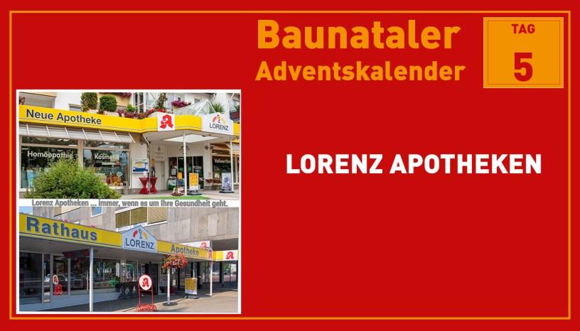 Lorenz Apotheke, Baunatal, Baunataler Adventskalender, Landkreis Kassel, Stadtmarketing, Wirtschaft