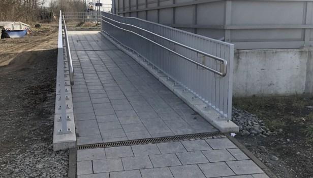 Baunatal, Bahnhof, Guntershausen, barrierefrei, Rampe