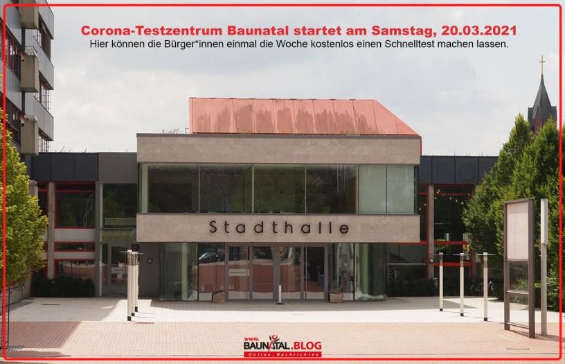 Corona-Testzentrum, Baunatal, Stadthalle