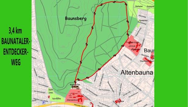 Baunatal, Entdecker-Weg, Baunsberg