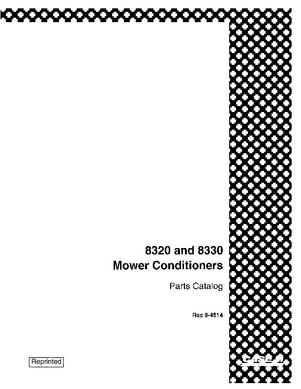 Free Manual For Model 8320 Case International Haybine