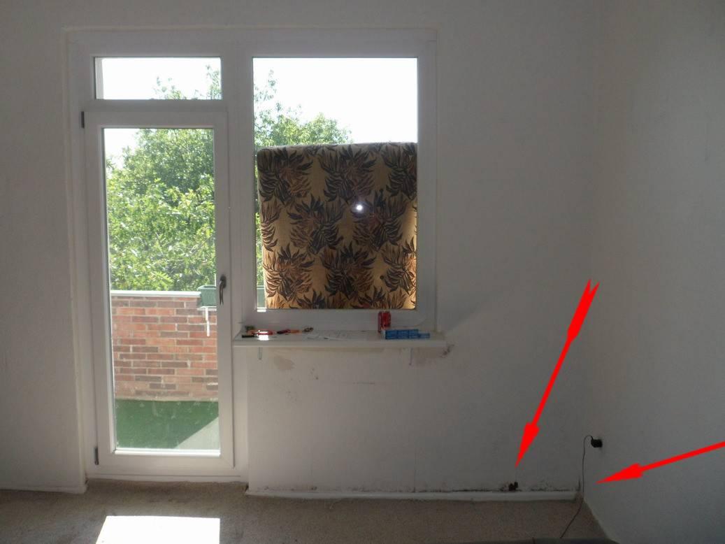 Balkon Schimmel Schimmelpilz-Französische Fenster Laufen An