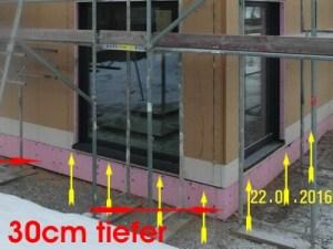 Baubegleitung Einfamilienhaus, EfH - Baubegleiter Fertigteilhaus Abdichtung Bodenschwelle Fertighaus