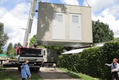 Containerbau Modulbau fassadenplatten anbieter kosten cetris bausal