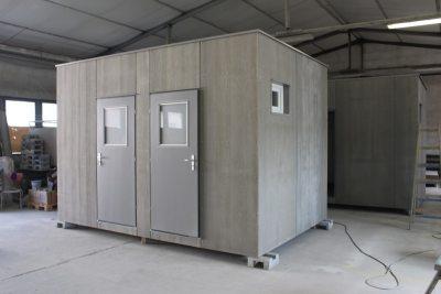 Sanitaercontainer mit CEDRIS Aussenansicht