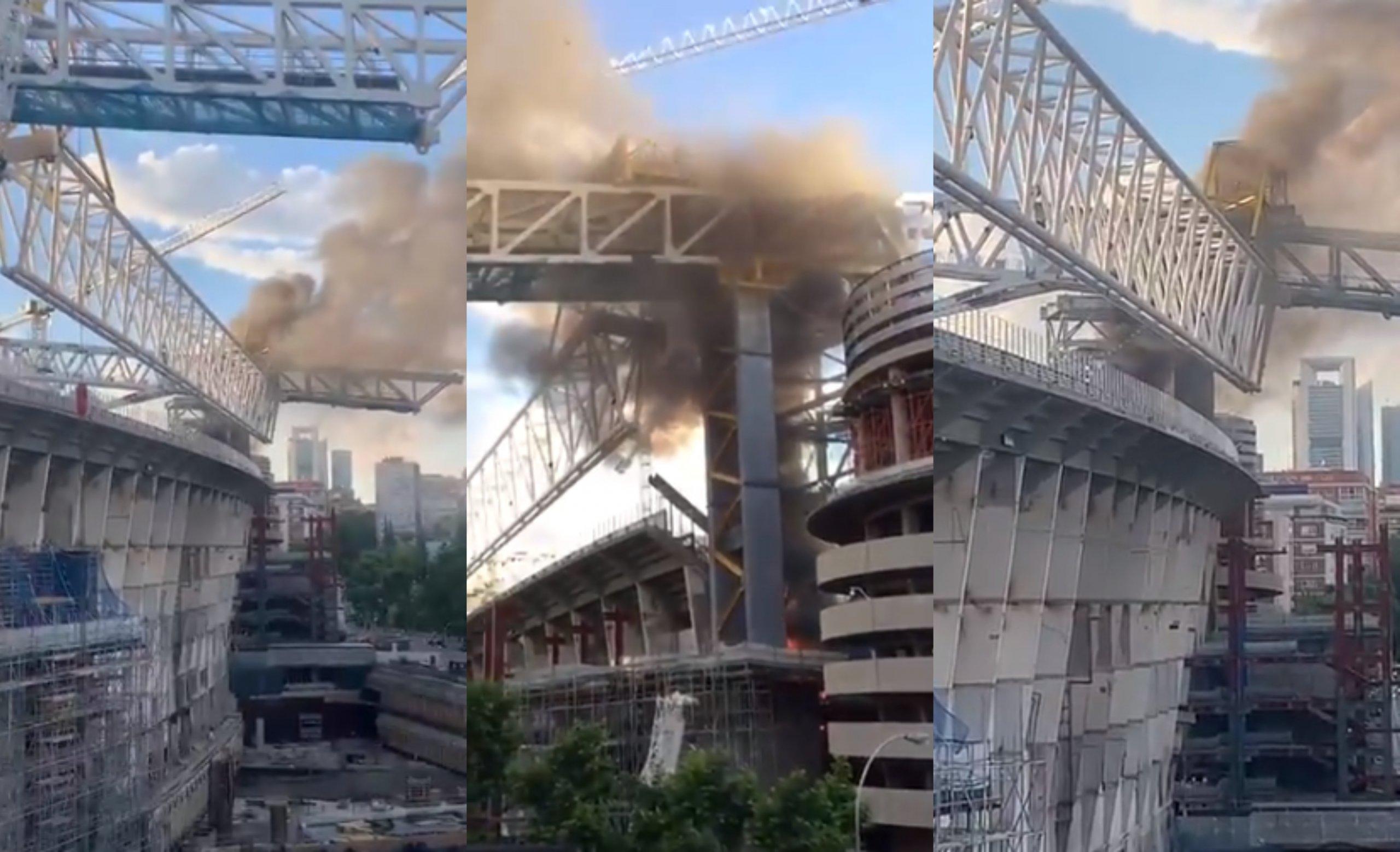 [VIDEO] Požar na stadionu madridskog Reala