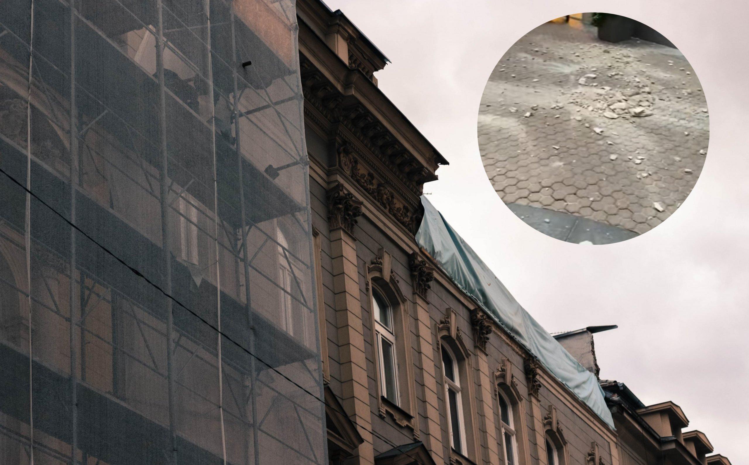 U centru Zagreba se odlomila fasada: Srećom, tragedija se i ovog puta izbjegla, no za dlaku