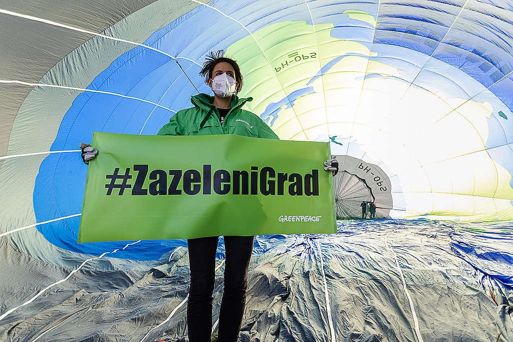 Zeleni grad za zeleni planet: Nova kampanja Greenpeacea Hrvatska protiv klimatskih promjena bori se zelenilom