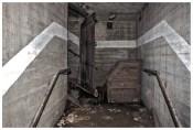 Zugemauerter Treppenaufgang