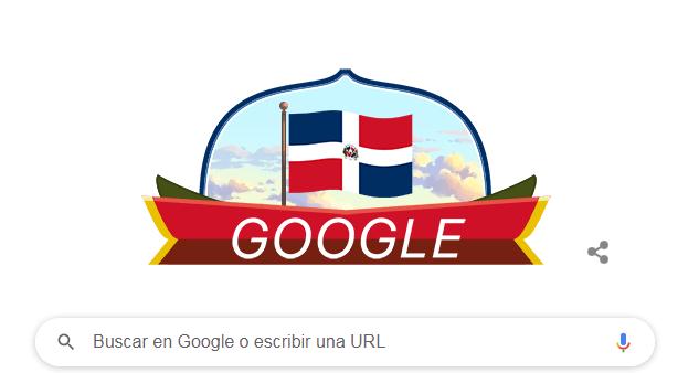 Doodle de Google es dedicado a República Dominicana por sus 177 años de Independencia