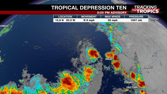 Se forma la décima depresión tropical