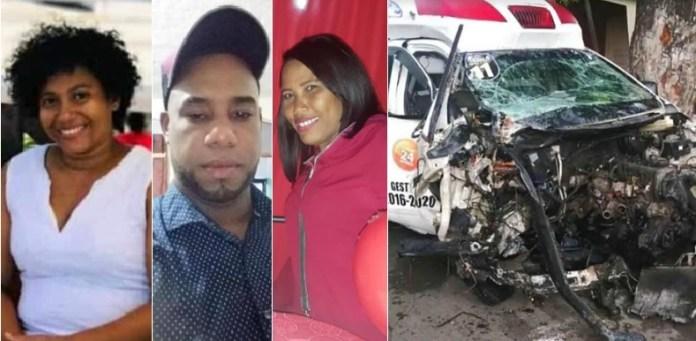 Muere enfermera, paramédico y paciente en choque que involucró una ambulancia en Azua