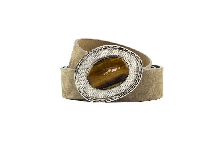 Violet Tiger Eye Silver Belt