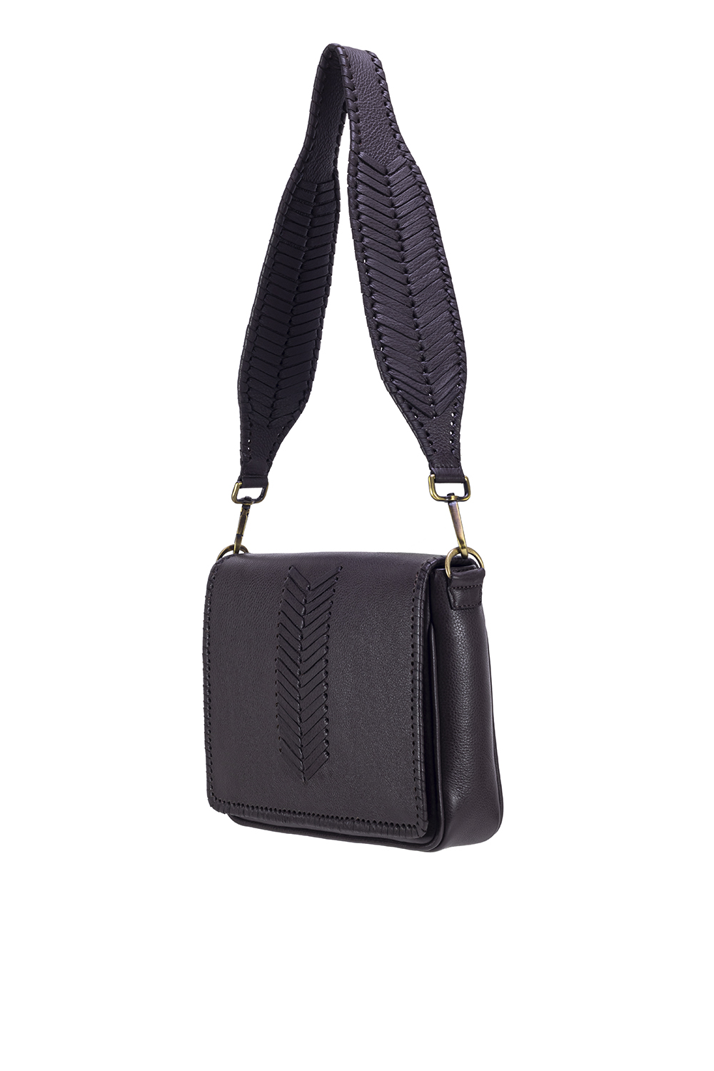 The Molly Bag is handmade in Portugal out of textured calf leather.