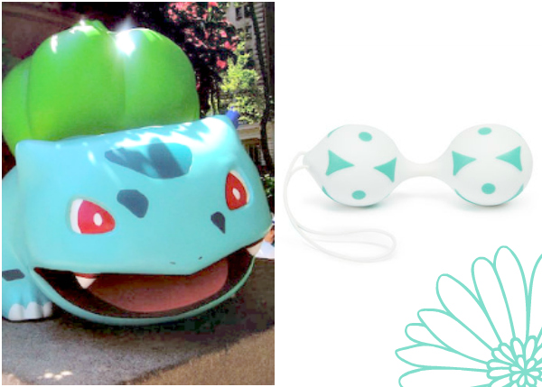 Bulbasaur Pokemon with Silicone Jiggle Balls