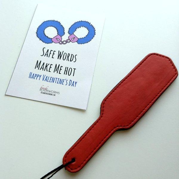 Safe words make me hot Naughty Valentine Card