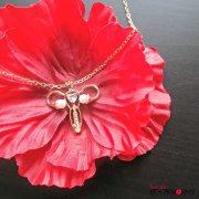 Ova Achievers Uterus Necklace Goldtone