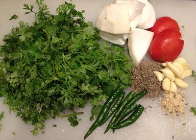 Parsi Green curry masala