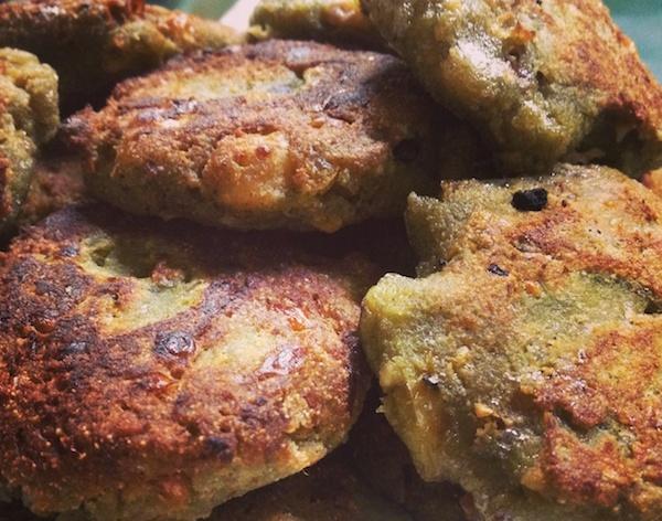 Parsi, falafel, chutney falafel