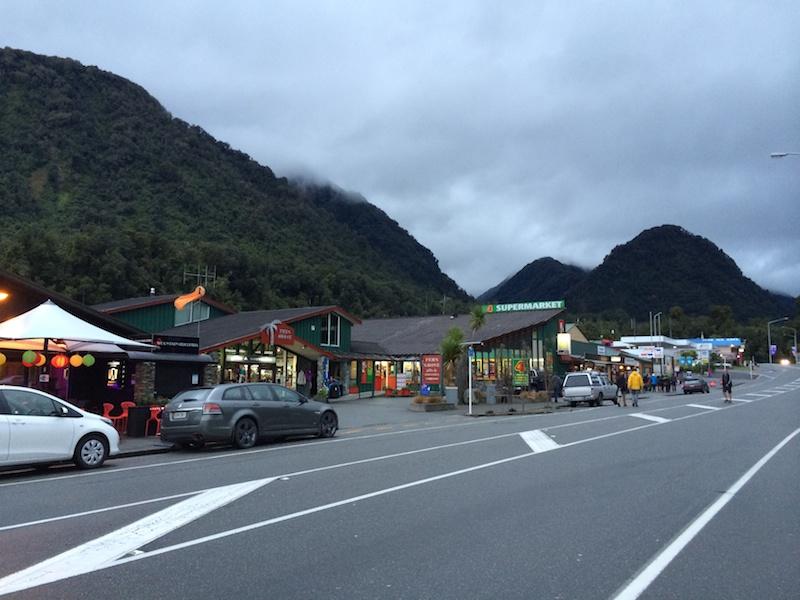 Main street of Franz Josef