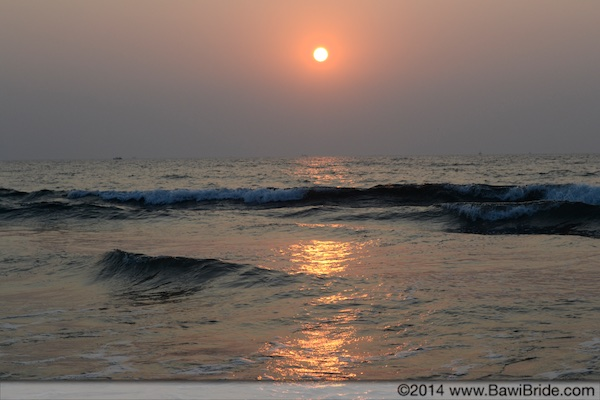 Waves lapping silently at Ware beach, Ganpatipule