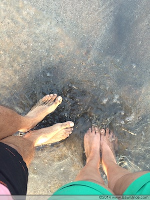 Crystal clear water and sand so soft you want your feet to sink in on Ware beach, Ganpatipule