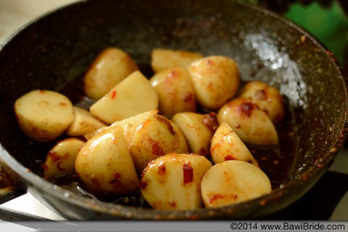6. Coated potatoes