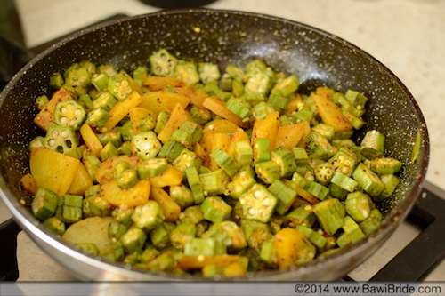 Cooked Bheeda-Papeto