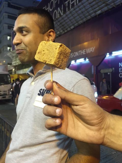 Stinky Tofu in Mongkok, Hongkong