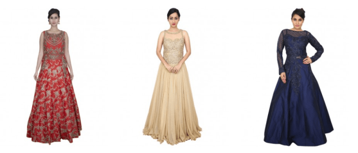 An Indo Western Gown For Special Occasions