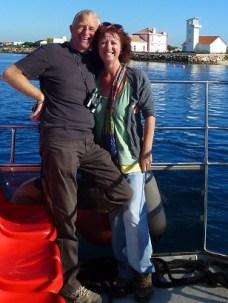 Both on boat bound for Culatra island