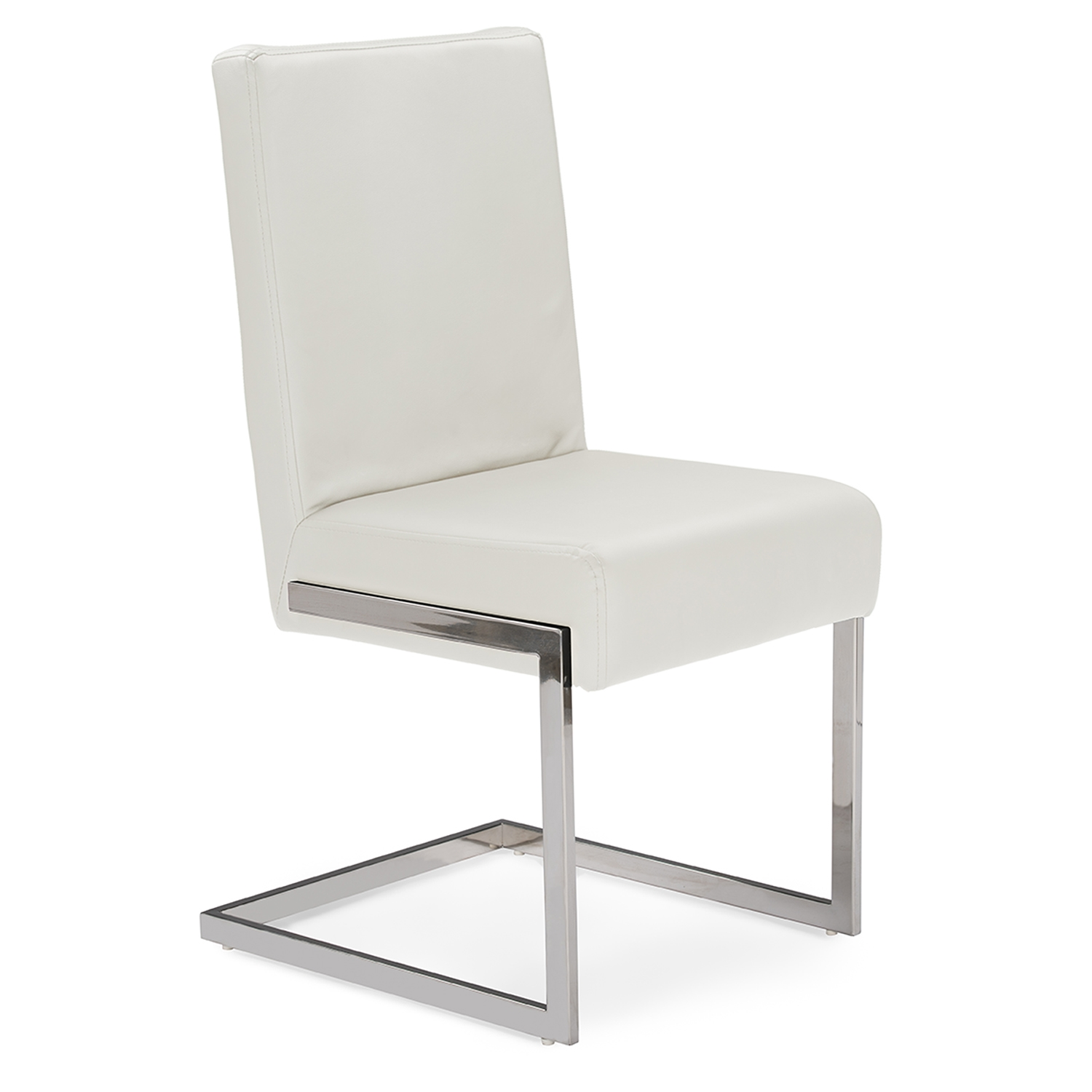 Modern White Dining Chair Baxton Studio Toulan Modern And Contemporary White Faux